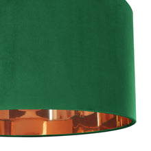 Load image into Gallery viewer, NEW! Emerald green velvet with mirror copper liner