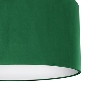 NEW! Emerald green velvet with opaque white liner lampshade