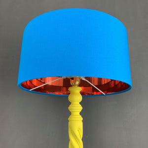 Spiral hand painted solid beech table lamp base