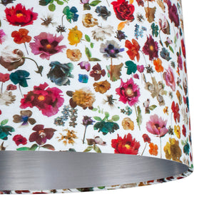 NEW: Liberty of London Floral Edit with brushed silver lampshade