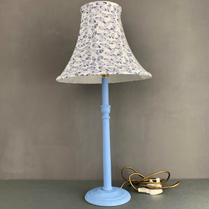 Hand painted solid beech table lamp base