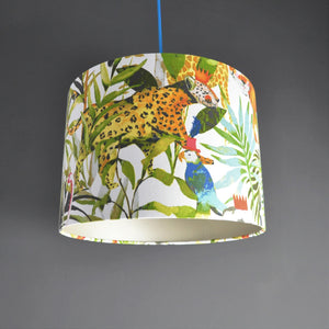 Jungle fiesta with champagne liner lampshade