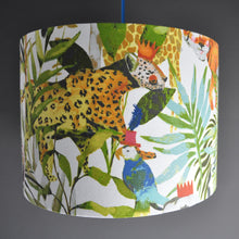 Load image into Gallery viewer, Jungle fiesta with champagne liner lampshade