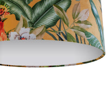 Load image into Gallery viewer, NEW: Jungle Velvet gold lampshade with white opaque liner