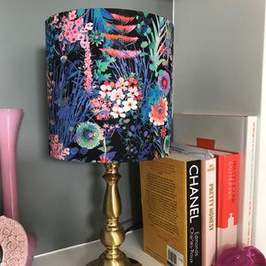 BEST SELLING: Liberty of London floral cotton with mirror copper lampshade