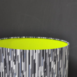Liberty of London stripe with neon yellow liner lampshade