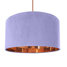 Load image into Gallery viewer, Lilac velvet with mirror copper liner