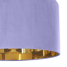 Load image into Gallery viewer, Lilac velvet with mirror gold liner