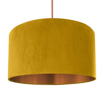 Load image into Gallery viewer, Mustard velvet with brushed copper liner