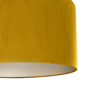 Mustard velvet with champagne liner lampshade