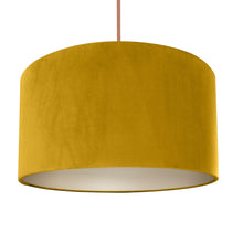 Load image into Gallery viewer, Mustard velvet with champagne liner lampshade