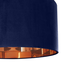 Load image into Gallery viewer, Navy blue velvet with mirror copper liner