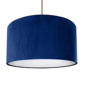 NEW! Royal blue velvet with opaque white liner lampshade