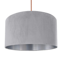 Load image into Gallery viewer, NEW! Soft grey velvet with brushed silver liner