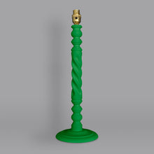 Load image into Gallery viewer, Spiral lamp base hand painted in Annie Sloan Chalk Paint