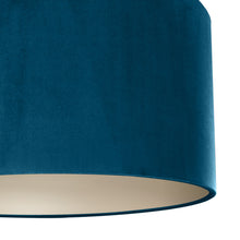 Load image into Gallery viewer, Teal velvet with champagne liner lampshade