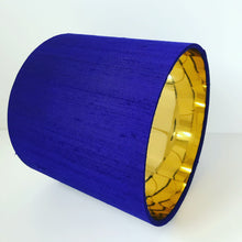 Load image into Gallery viewer, Violet silk lampshade with mirror gold liner