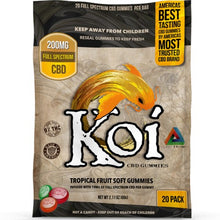 Load image into Gallery viewer, Soft CBD Gummies | Tropical Fruit Flavor | Koi CBD