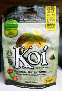 Soft CBD Gummies | Sour Tropical Fruit Flavor | Koi CBD
