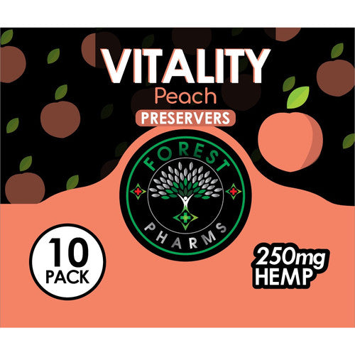 Forest Pharms Vitality CBD Gummie 250 MG Peach Flavored
