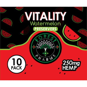 Forest Pharms Vitality CBD Gummies  250 MG Watermelon Flavored