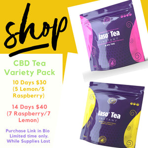 10 Day Sample Pack Detox Tea Variety by Pack - 5 Raspberry 5 Lemon