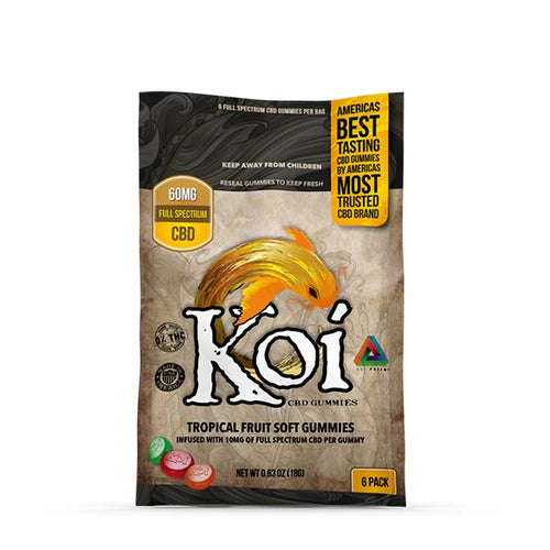 Soft CBD Gummies | Tropical Fruit Flavor | Koi CBD