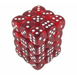 12mm d6 Translucent 36 Dice Red/White