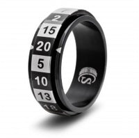 CritSuccess d20 Ring Black Size 8