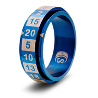 CritSuccess d20 Ring Blue Size 10