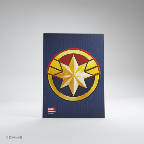 Matte Card Game Sleeves Marvel Champions Captain Marvel