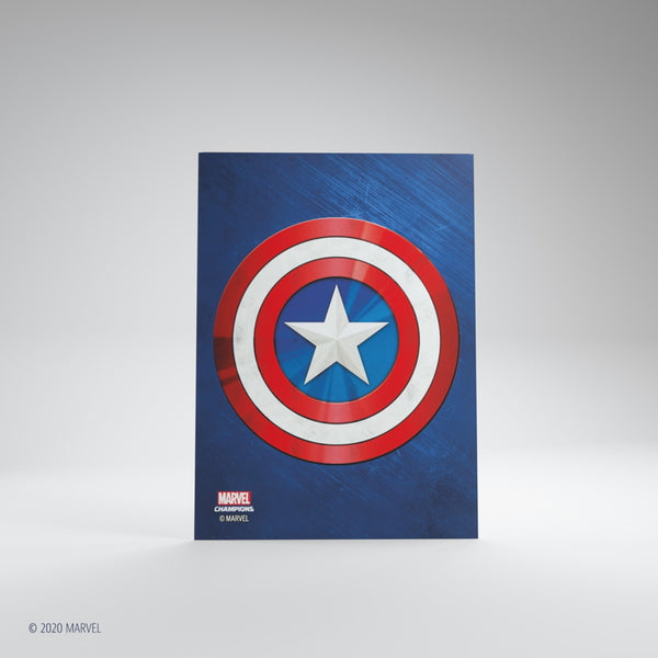 Matte Card Game Sleeves Marvel Champions Captain America