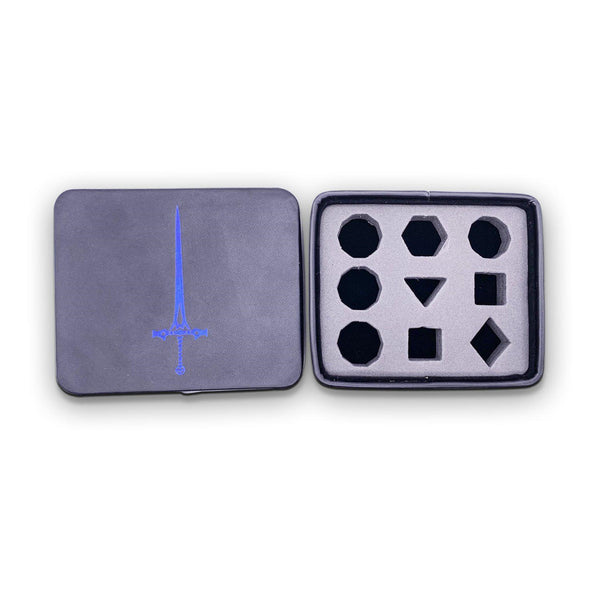 Leatherette Dice Case Blue Sword