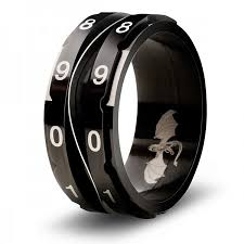 CritSuccess Life Counter Ring Black Size 14