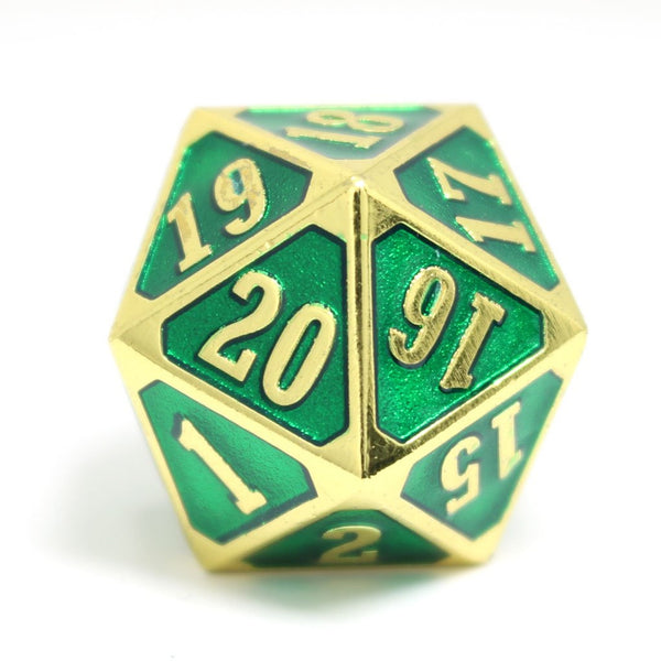 MTG Roll Down Counter Shiny Gold Emerald