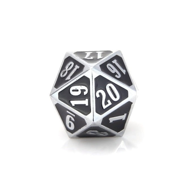 MTG Roll Down Counter Shiny Silver Black
