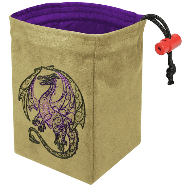 Dice Bag Embroidered Dragon Doodle