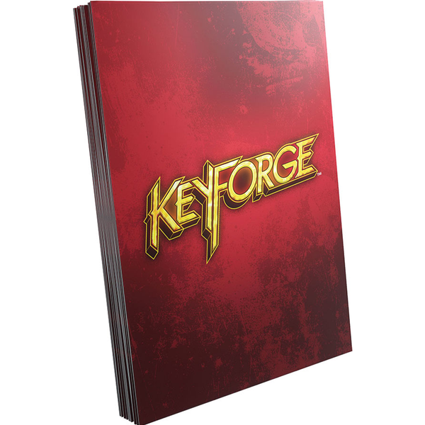 KeyForge Logo Sleeves Red (40)