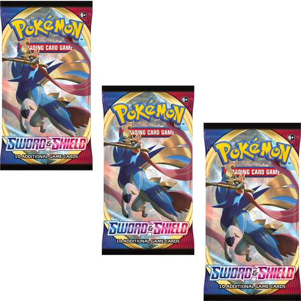 Pokemon TCG Sword and Shield 3x Booster Packs