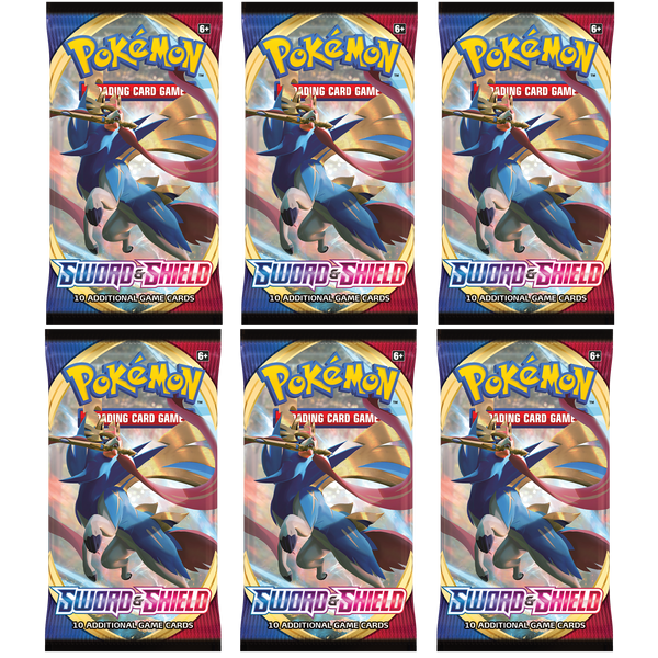 Pokemon TCG Sword and Shield 6x Booster Packs