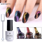 BORN PRETTY Chameleon Cat Eye Nail Gel Varnish 3D Magnetic Gel Soak Off UV Gel Polish With Magnet Board