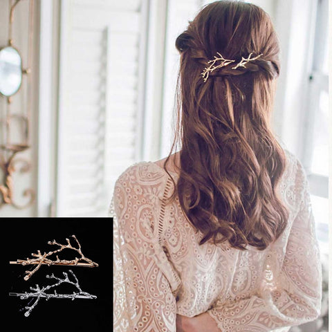 FAMSHIN New Antlers branch alloy side folder Princess clip Hair Accessories wholesale Wedding Jewelry