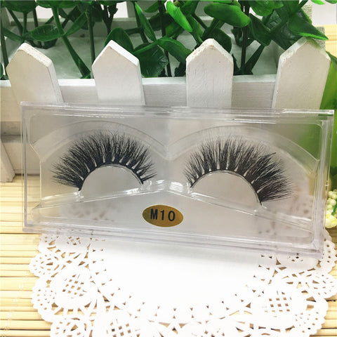 3D Natural Multi Layer Thick Cross Eye Lashes False Eyelashes M10
