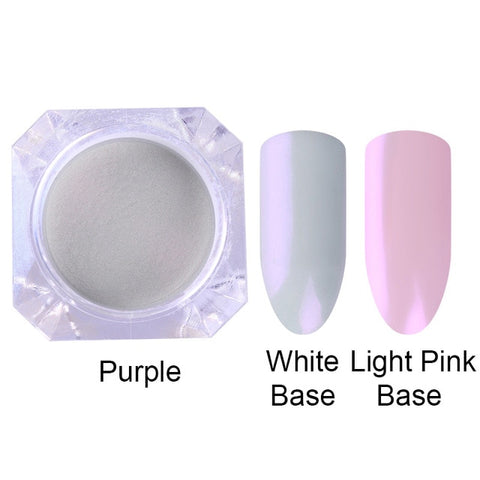 Mermaid Nail Glitter Powder Pearl Shell Shimmer Powder Pigment Gradient Glimmer Dust Nail Art Decorations