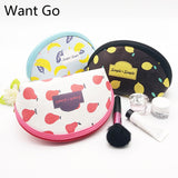 Want Go Floral Print Women Make up Bag Cosmetic Cases Portable Travel Toiletry Bag Large Capacity Storage Bag Zipper Wash Pouch