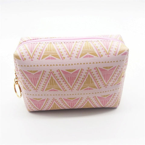 Want Go Square Women Cosmetic Cases Bags Pu Leather Makeup Bag Waterproof Wash Organizer Pouch Portable Storage Bag For Lady