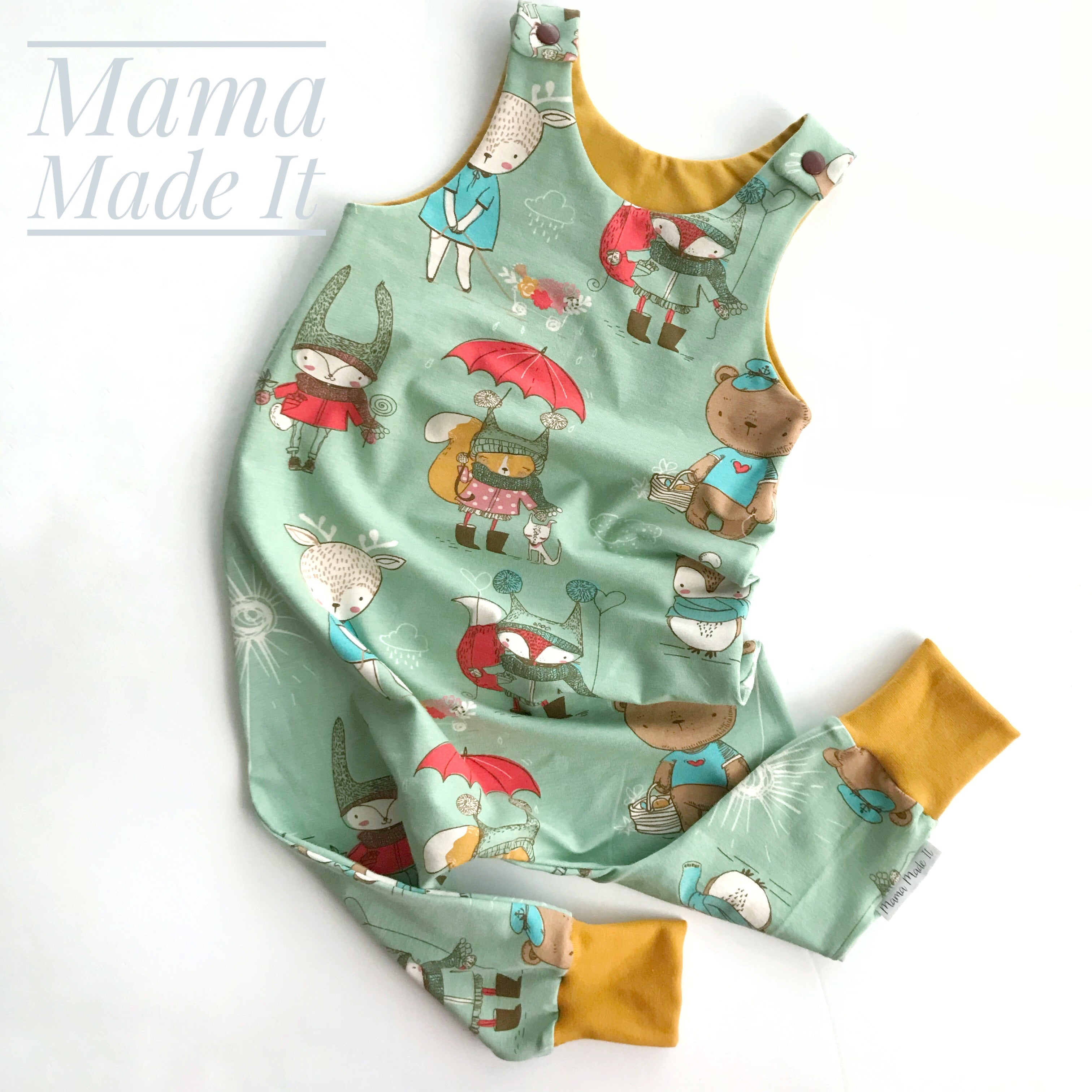Handmade Dungarees/Romper Choose Your Fabric