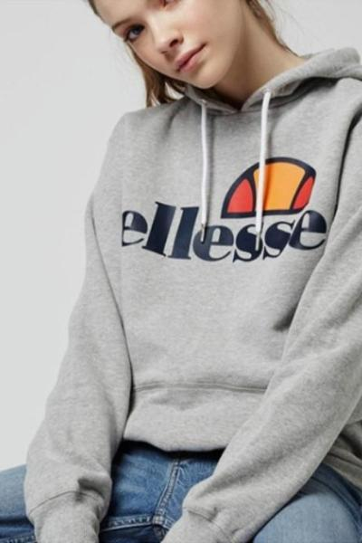 Ellesse Long Sleeve Loose Hoodies Casual Pullover Sweatshirts