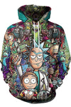 Rick and Morty Printed Loose Unisex Hoodie