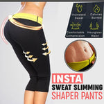 Sweat Slimming Shaper Cropped Pants